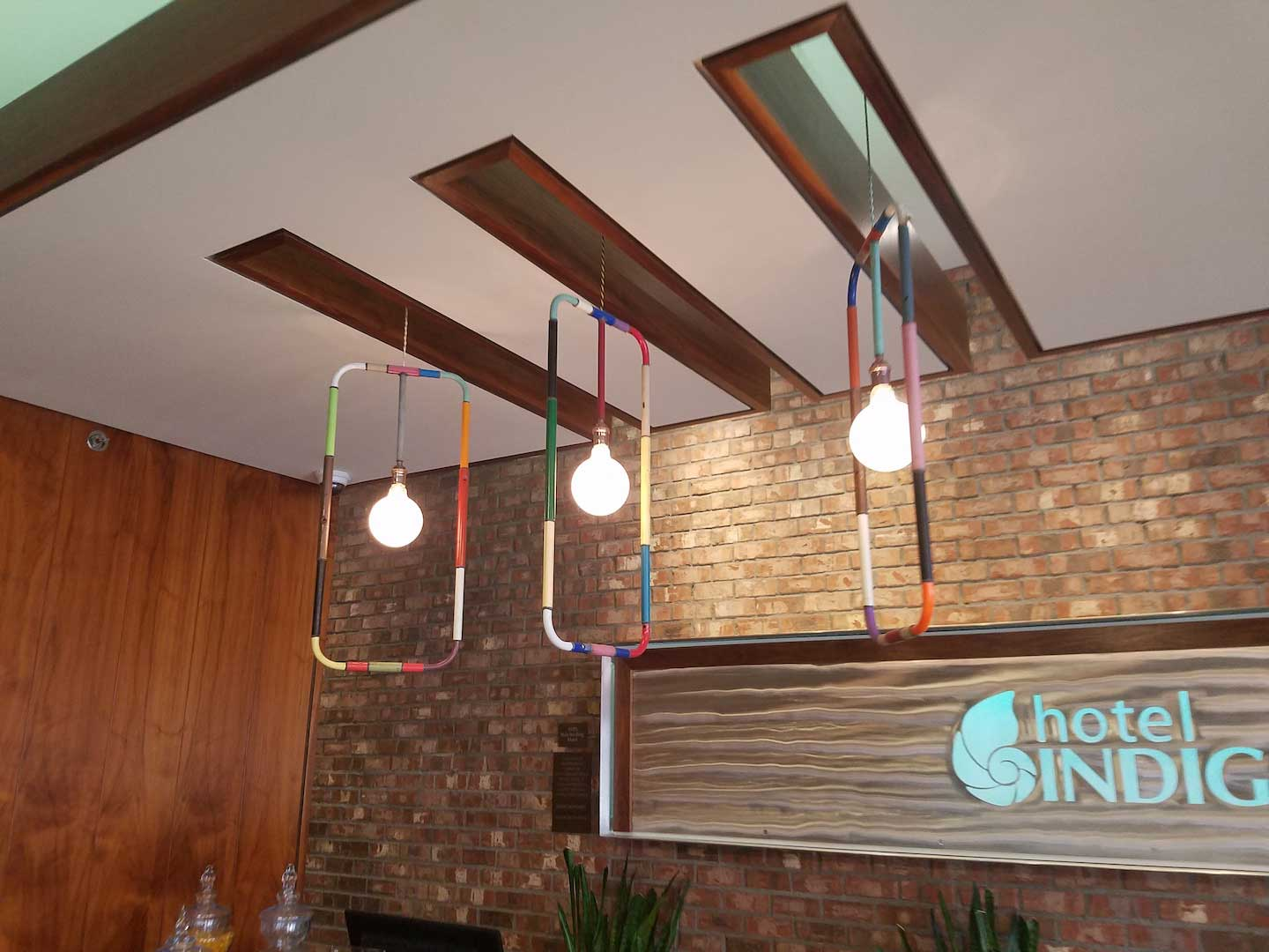 Hotel Indigo Bar Lighting
